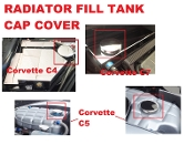 CHROME CAP COVER: Fits C4 & C7 RADIATOR & C5 WASHER TANK
