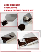 Camaro SS LT1 V8 2016-Present 8 Pc ENGINE COVER COMBO KIT