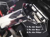 Corvette C4 1991 10 Piece AIR SYSTEM COVER KIT